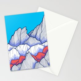 The Ice White Rocks Stationery Cards