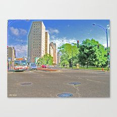 Lincoln Avenue Stop with Accented Edges Canvas Print