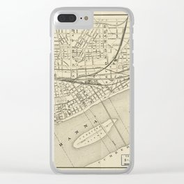Map of Harrisburg, Pennsylvania (1884) Clear iPhone Case