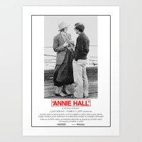 annie hall Art Prints featuring Annie Hall by Lucas Preti