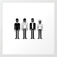 talking heads Art Prints featuring Talking Heads by Band Land