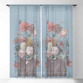 This one goes out to the one I love (4) blue Sheer Curtain