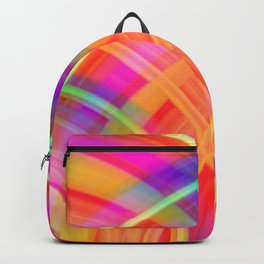 Vintage curved ellipse with a crisp fiery accent and all the colors of the rainbow. Backpack