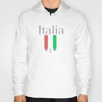 world cup Hoodies featuring Italia World Cup Logo by Bunhugger Design