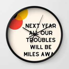 nxt year Wall Clock