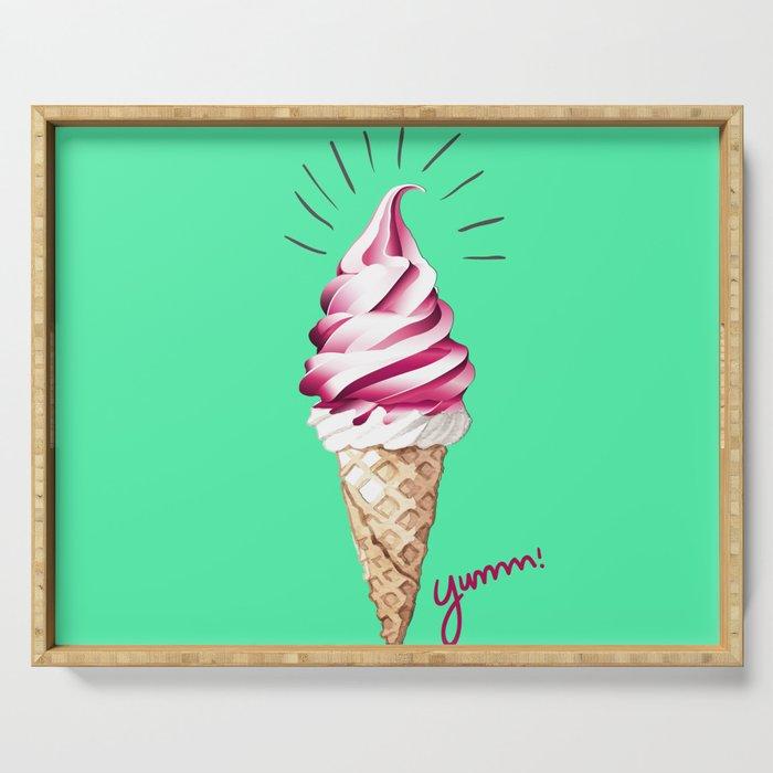 Yummy Ice Cream | Digital Art Serving Tray