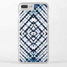 Diamonds Indigo Clear iPhone Case