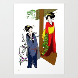 Lady and Servent Art Print