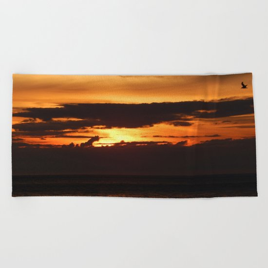 Sunset Shadows Beach Towel