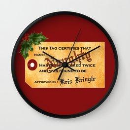 Santa Naughty List Wall Clock