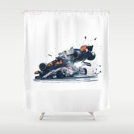 Formula One Crash Shower Curtain