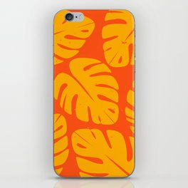Monstera Leaf Print 1 iPhone Skin