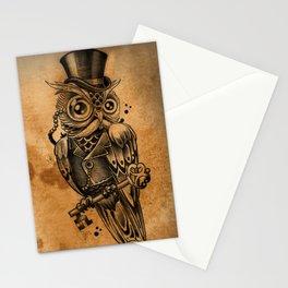 Owl tattoo cute gentleman  Stationery Cards