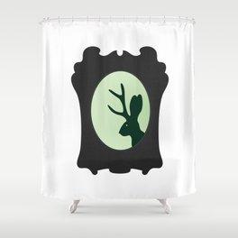 JACKALOPE SILHOUETTE - green Shower Curtain