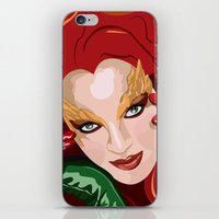 poison ivy iPhone & iPod Skins featuring Poison Ivy  by Jordi Hayman Design