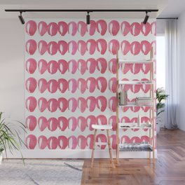 Pink Abstract Swirls Wall Mural