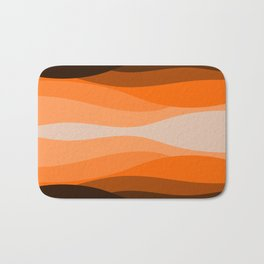 Brown orange abstract pattern Bath Mat