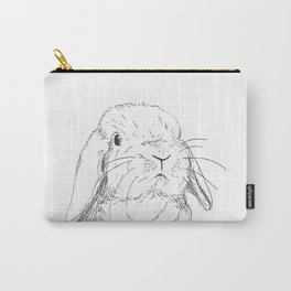 Curious Holland Lop Bunny Carry-All Pouch