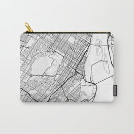 Montreal Map, Canada - Black and White Carry-All Pouch
