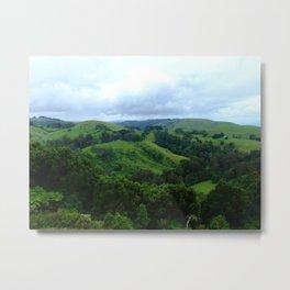 Green Hills Metal Print