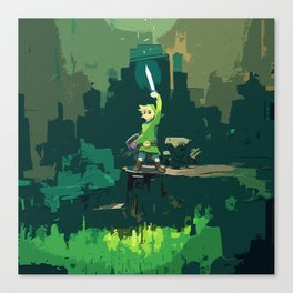 Legend Of Zelda Link Painting Art Canvas Print