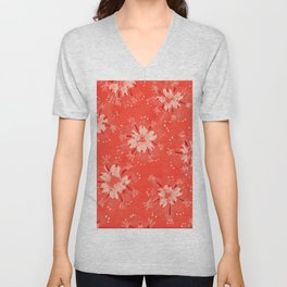 Orange Golden Autumn Unisex V-Neck