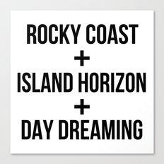 Rocky Coast+Island Horizon+Day Dreaming Canvas Print
