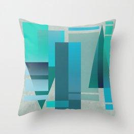 METROPOLIS | blue Throw Pillow