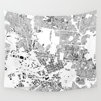 melbourne Wall Tapestries featuring MELBOURNE by Maps Factory