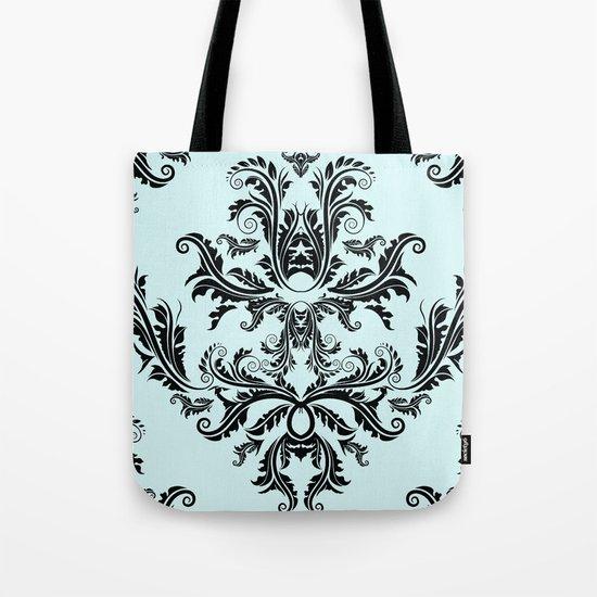 Damask Pattern Tote Bag