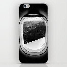 Window Seat // Scenic Mountain View from Airplane Wing // Snowcapped Landscape Photography iPhone Skin