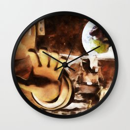 Astronauts and Aliens Wall Clock