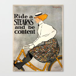 Vintage poster - Stearns Bicycles Canvas Print