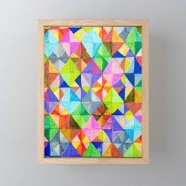 Diamond Tiles Framed Mini Art Print