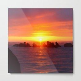 Colorful ocean Metal Print