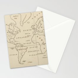 Vintage Map of The World (1794) Stationery Cards