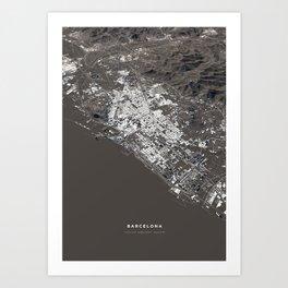 Barcelona - city map Art Print