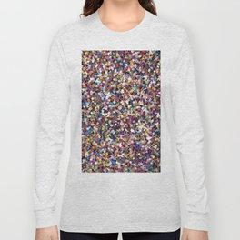 Colorful Rainbow Glittering Confetti Long Sleeve T-shirt