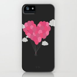 Balloons arranged as heart iPhone Case