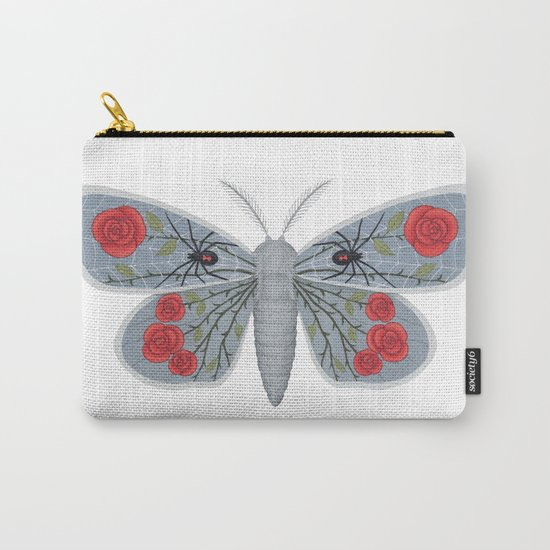 spider web and rose (made up moth) Carry-All Pouch