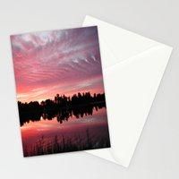 Lake Sky 3 Stationery Cards