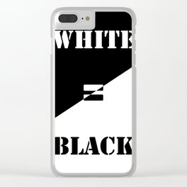 FAKE NEWS 01 Clear iPhone Case