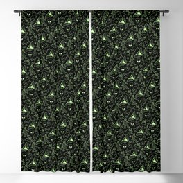 Cryptid Pattern: Green Lines Blackout Curtain