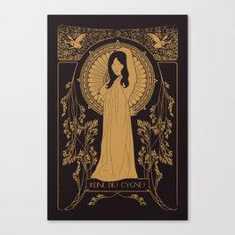 Reine des Cygnes (Gold) Canvas Print