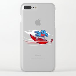 Wind Surfer Clear iPhone Case
