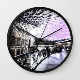 Kings Cross Station Art Wall Clock
