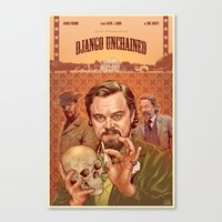 django Canvas Prints featuring DJANGO by BONES ART