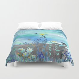 Blue Garden I Duvet Cover
