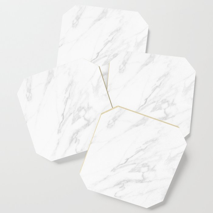 Clic White Marble Coaster