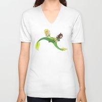 mermaids V-neck T-shirts featuring Mermaids by SofusGirl